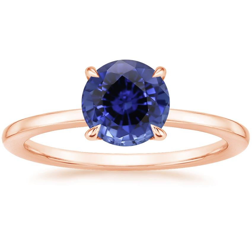 Rose Gold Sapphire Lumiere Diamond Ring