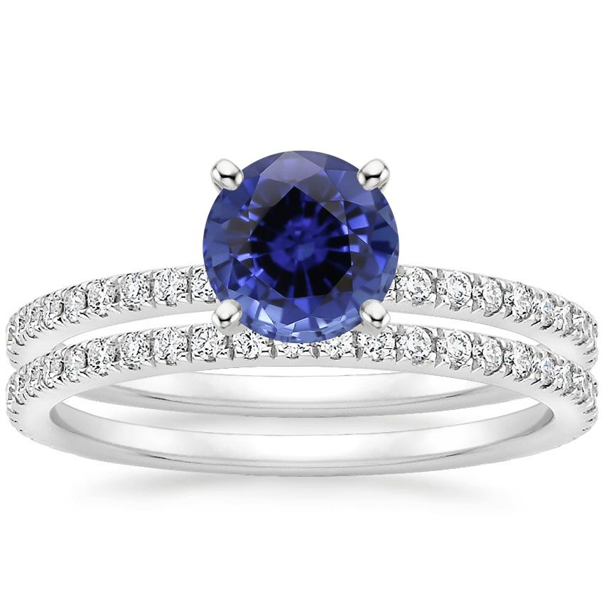 18KW Sapphire Luxe Ballad Bridal Set (1/2 ct. tw.), top view