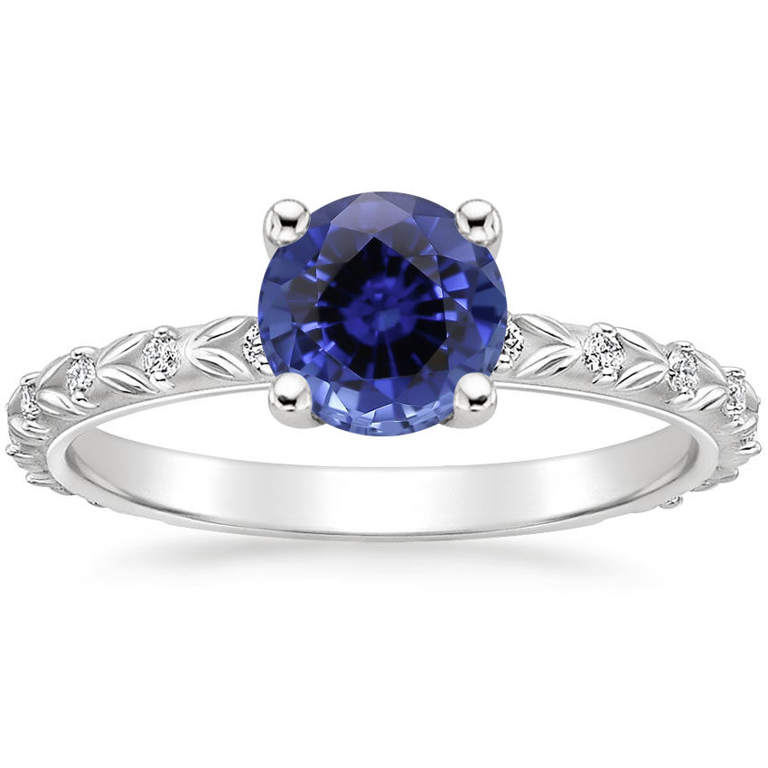 Sapphire Hollie Diamond Ring in 18K White Gold