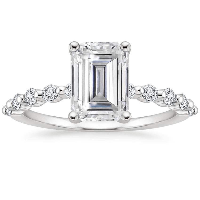 Moissanite Marseille Diamond Ring (1/4 ct. tw.) in 18K White Gold