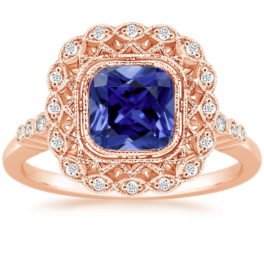 Rose Gold Sapphire Alvadora Diamond Ring