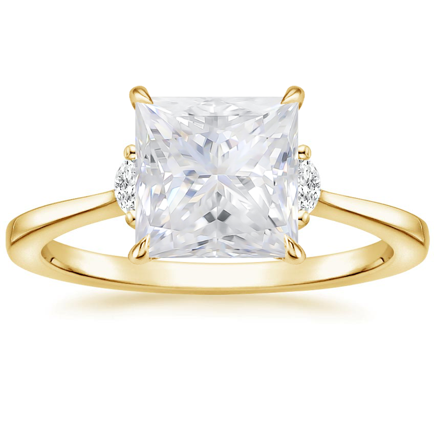 Yellow Gold Moissanite Jolie Diamond Ring
