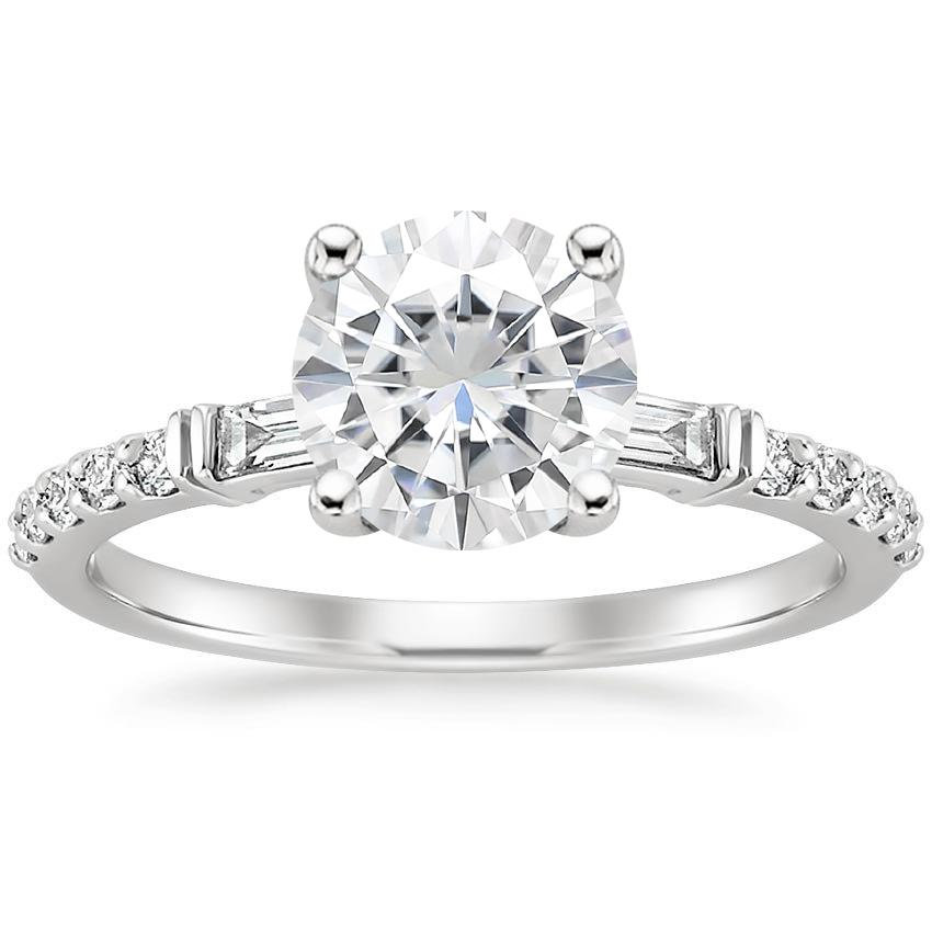 Moissanite Regency Diamond Ring (1/4 ct. tw.) in 18K White Gold