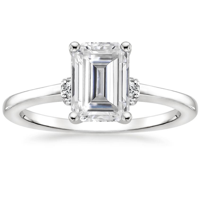 Moissanite Leighton Diamond Ring in Platinum