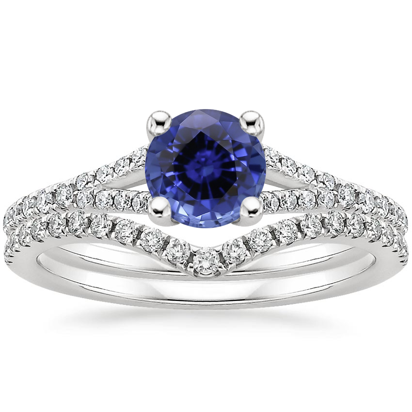 PT Sapphire Flair Diamond Bridal Set (1/3 ct. tw.), top view