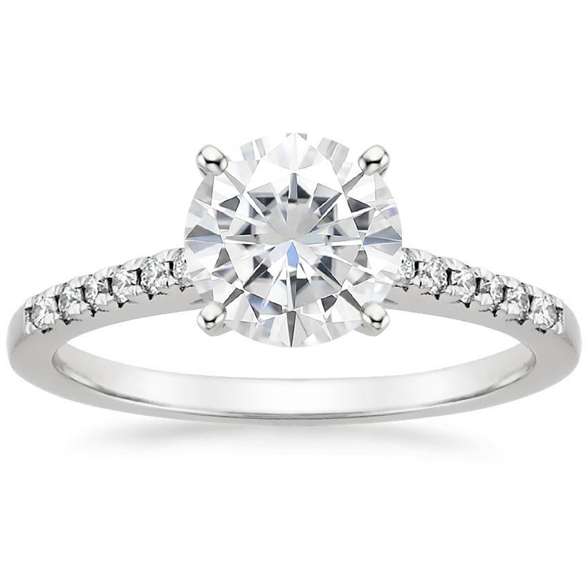 Moissanite Sonora Diamond Ring in Platinum