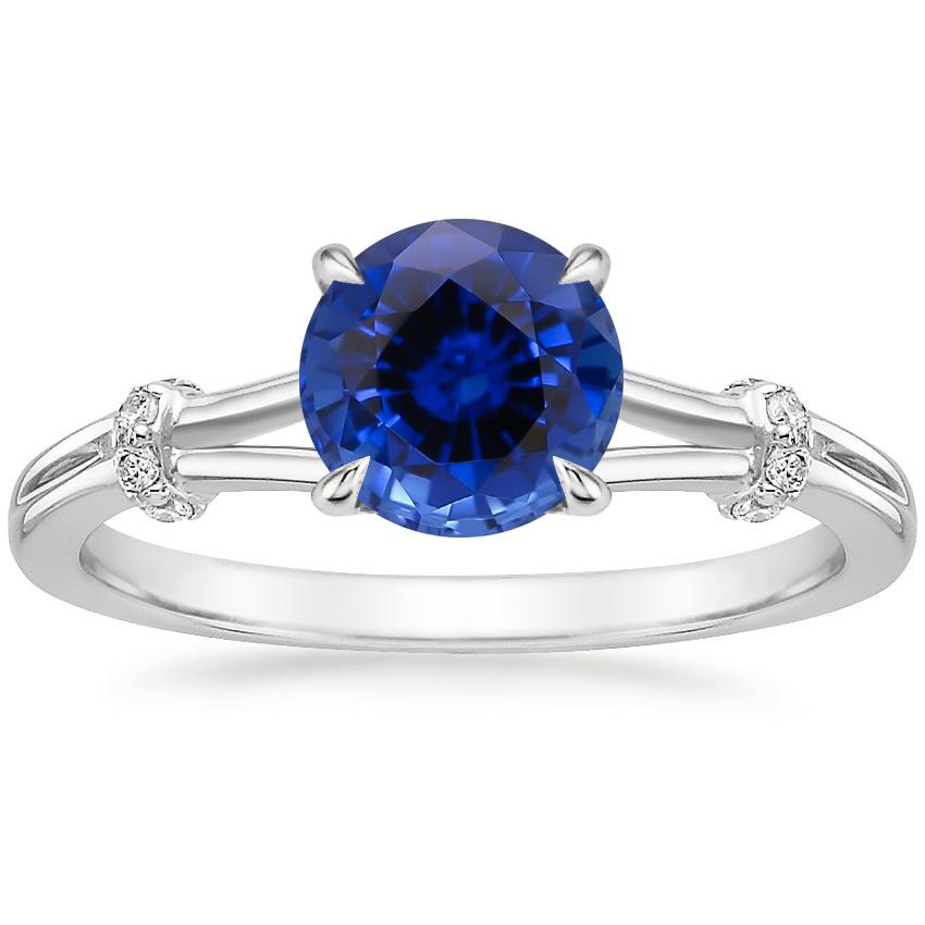 Sapphire Odelia Diamond Ring in 18K White Gold