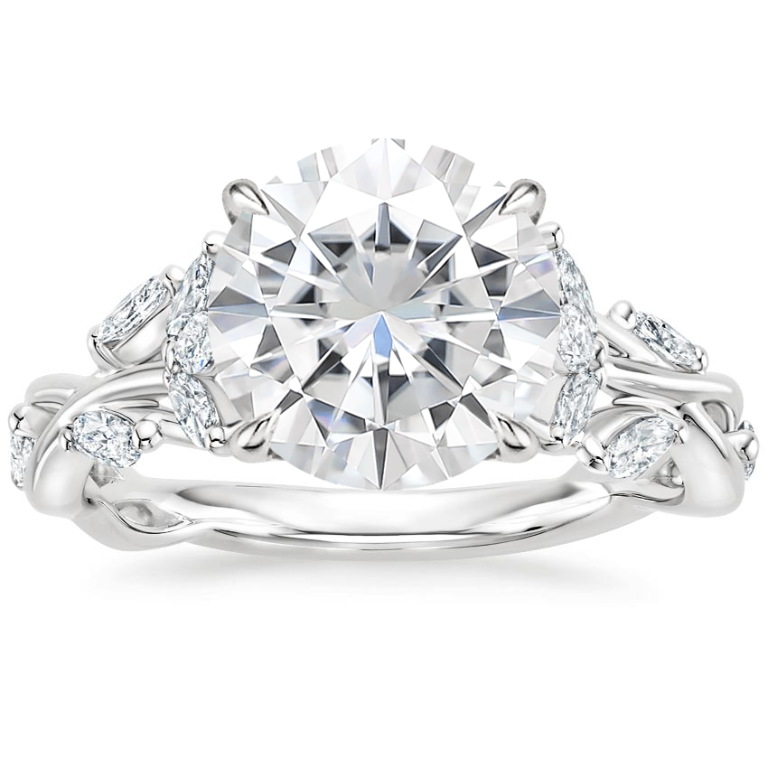 Moissanite Secret Garden Diamond Ring (1/2 ct. tw.) in Platinum