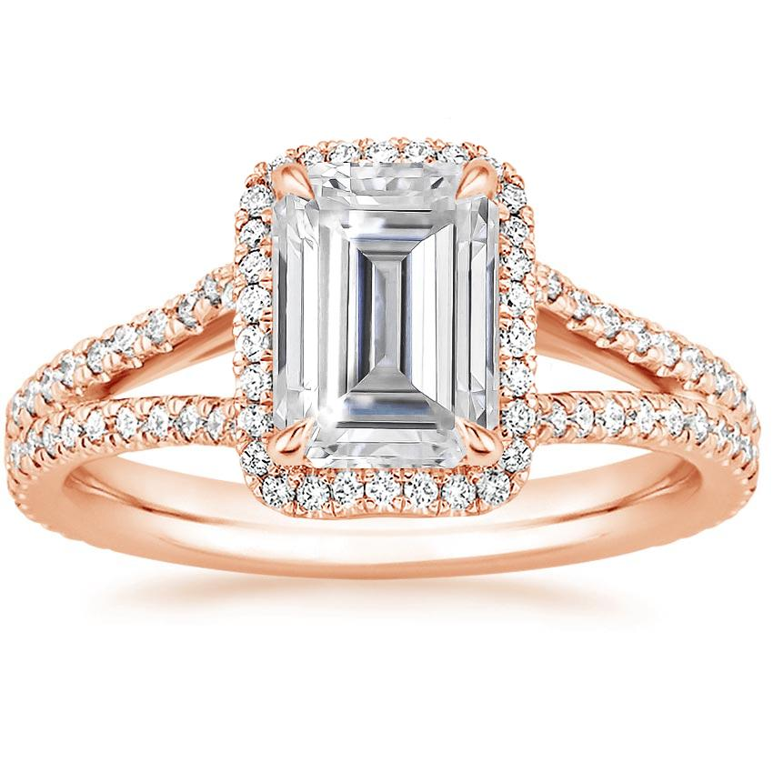 Rose Gold Moissanite Fortuna Diamond Ring (1/2 ct. tw.)