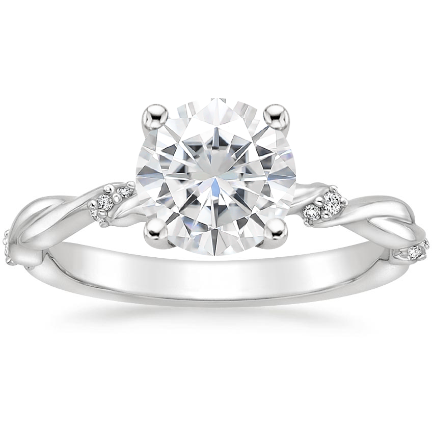 Moissanite Cleo Diamond Ring in Platinum
