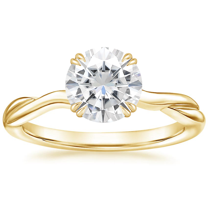 Yellow Gold Moissanite Alouette Ring