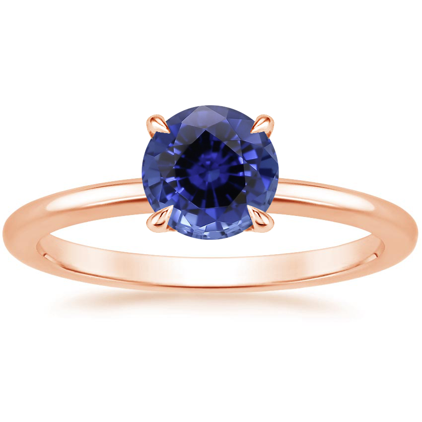 Rose Gold Sapphire Everly Diamond Ring