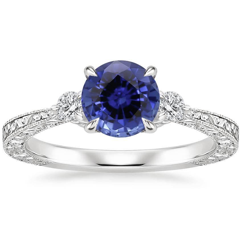 Sapphire Bristol Diamond Ring in Platinum