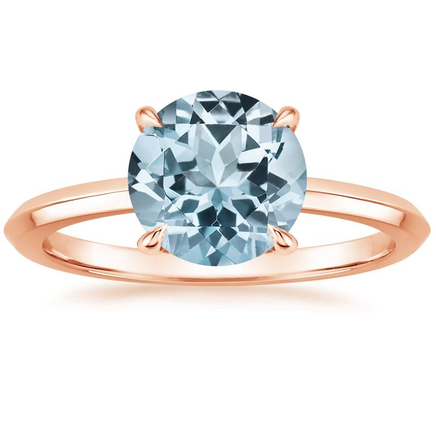 Rose Gold Aquamarine Hazel Ring