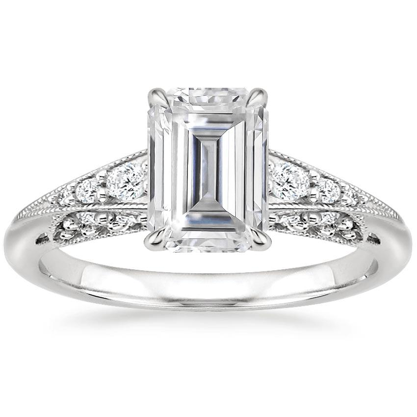 Moissanite Serafina Diamond Ring (1/4 ct. tw.) in 18K White Gold