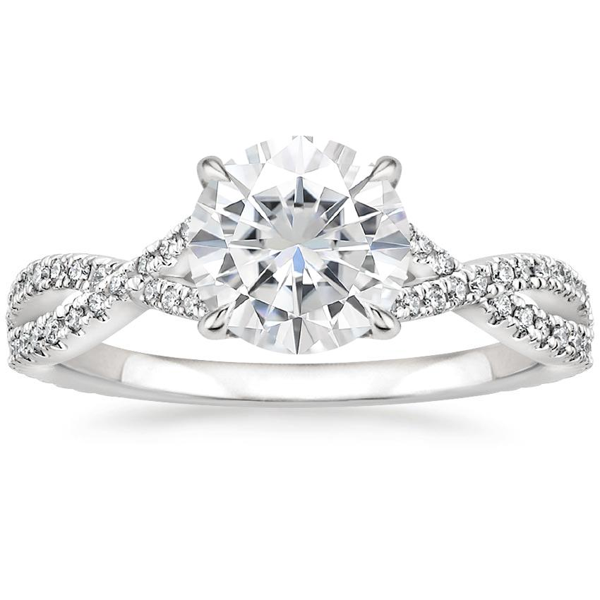 Moissanite Chloe Diamond Ring (1/4 ct. tw.) in Platinum