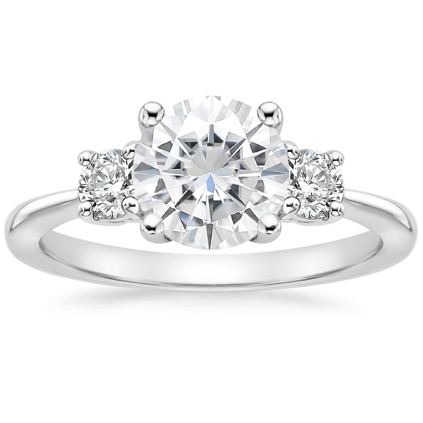 Moissanite Serena Diamond Ring (1/3 ct. tw.) in 18K White Gold