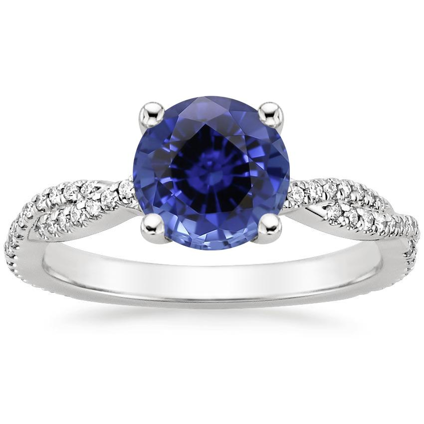 Sapphire Petite Luxe Twisted Vine Diamond Ring (1/4 ct. tw.) in 18K White Gold