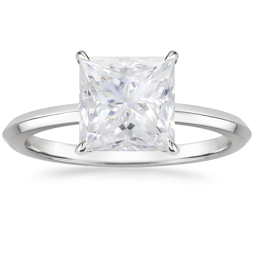 Moissanite Hazel Ring in 18K White Gold
