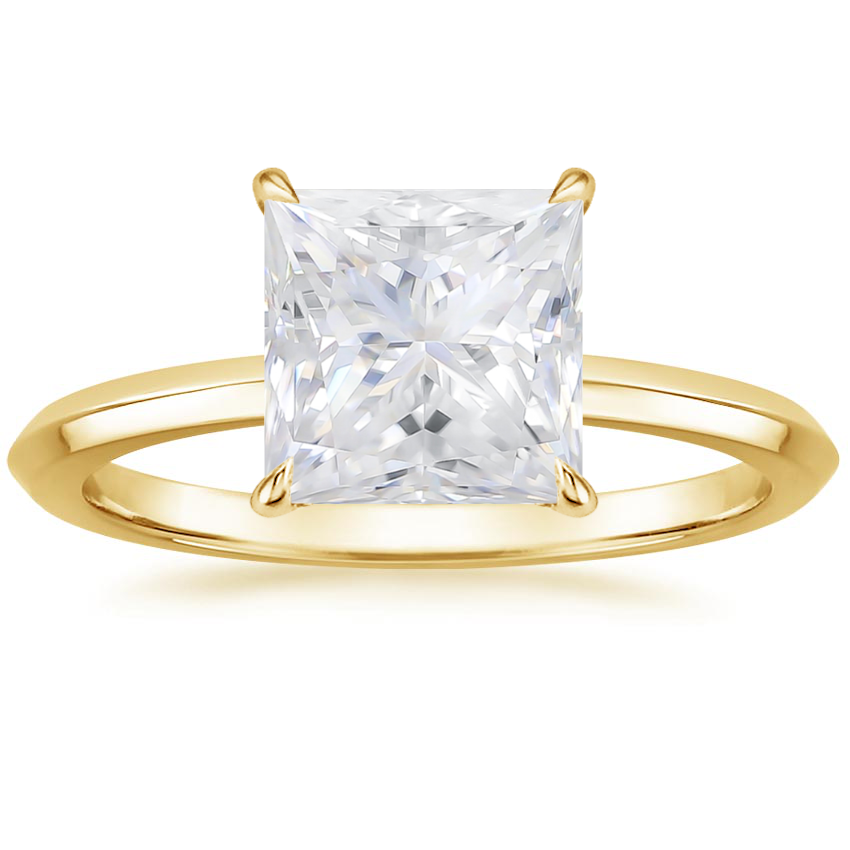 Yellow Gold Moissanite Hazel Ring