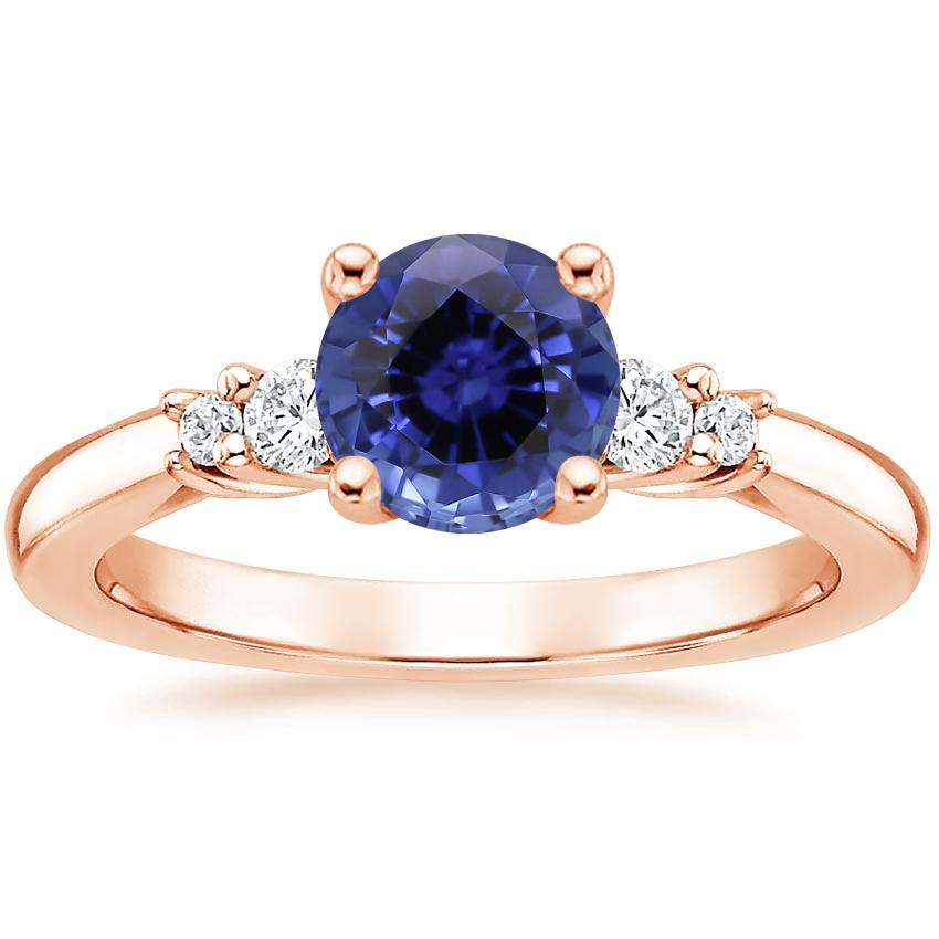 Rose Gold Sapphire Rialto Diamond Ring