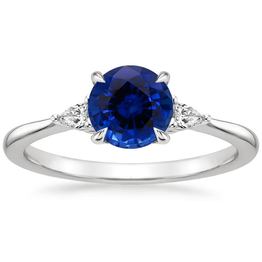 Sapphire Aria Diamond Ring (1/10 ct. tw.) in 18K White Gold