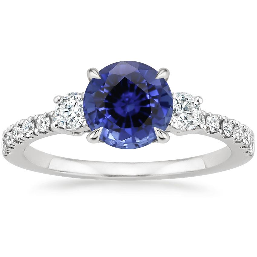Sapphire Radiance Diamond Ring (1/3 ct. tw.) in 18K White Gold