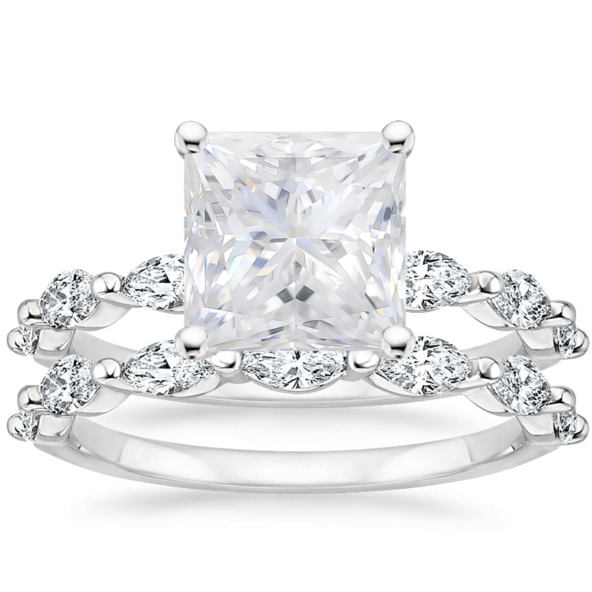 PT Moissanite Joelle Diamond Bridal Set (3/4 ct. tw.), top view