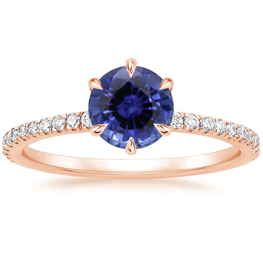 Rose Gold Sapphire Karina Diamond Ring (1/3 ct. tw.)