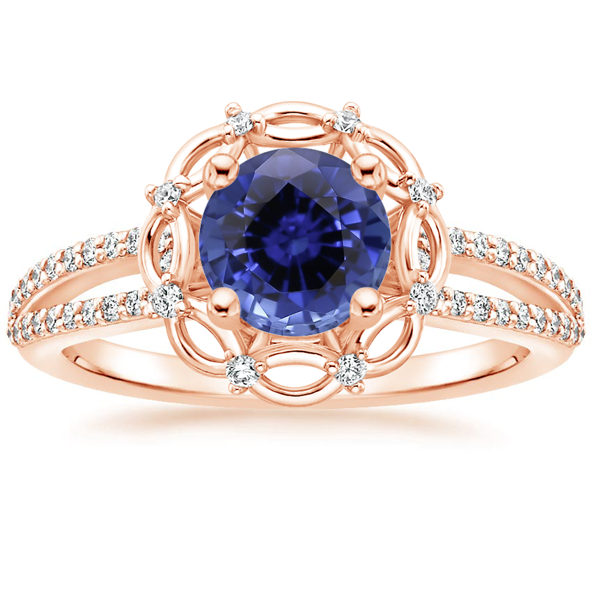 Rose Gold Sapphire Isabella Diamond Ring