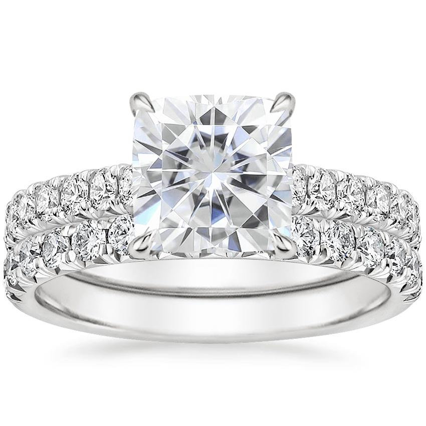 PT Moissanite Sienna Diamond Bridal Set (7/8 ct. tw.), top view