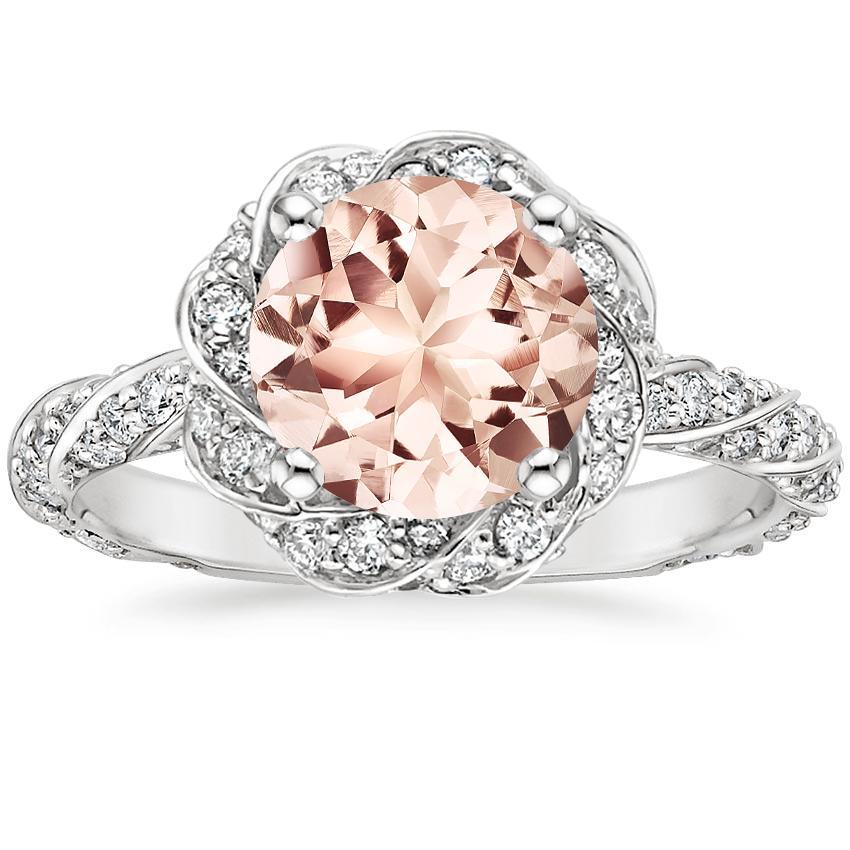 8699afdae140 Morganite Cordoba Diamond Ring (1 2 ct. tw.) in 18K White Gold