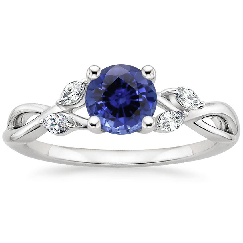 Sapphire Willow Diamond Ring (1/8 ct. tw.) in Platinum