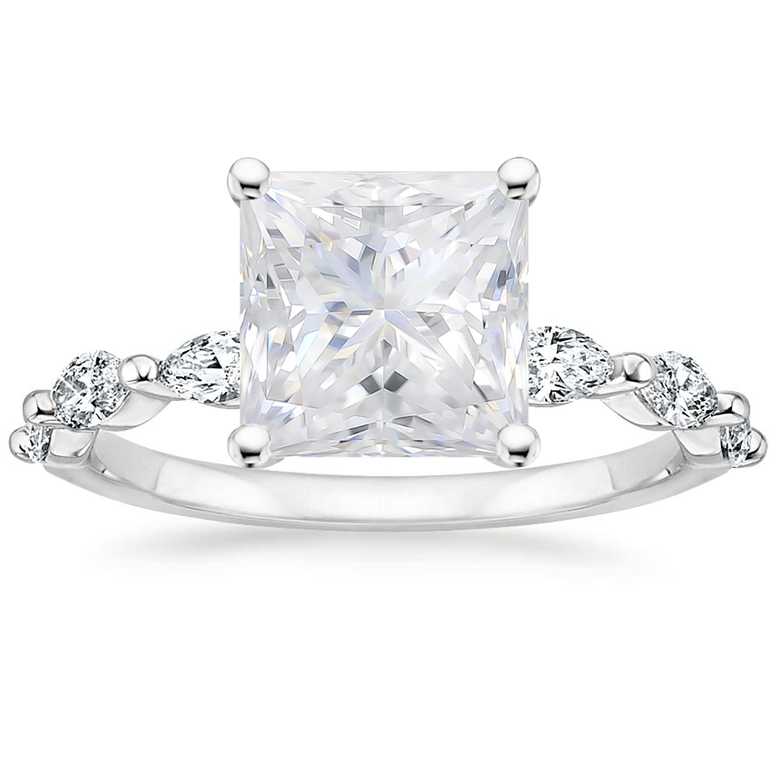 Moissanite Joelle Diamond Ring (1/3 ct. tw.) in 18K White Gold