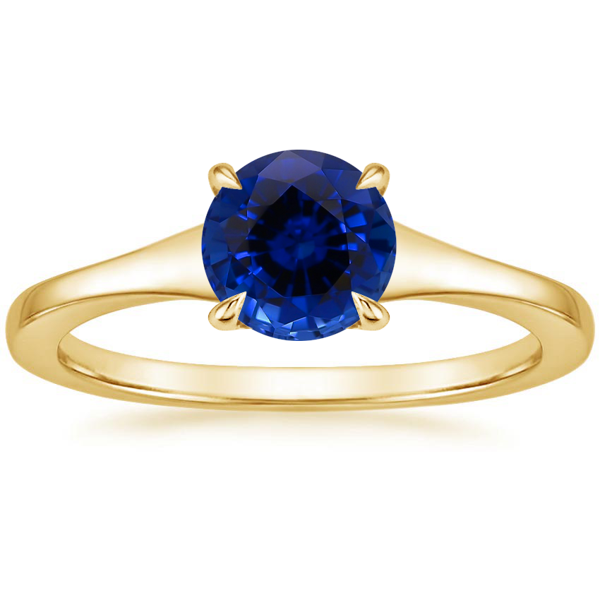 Yellow Gold Sapphire Muse Ring