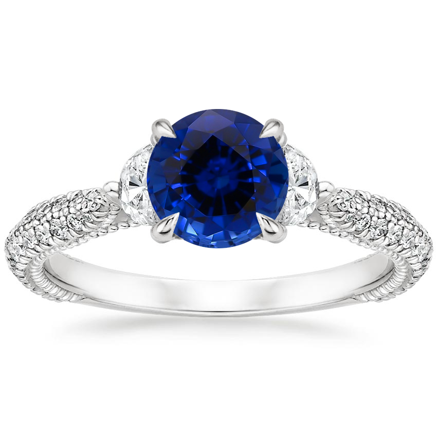 Sapphire Rosemont Diamond Ring in Platinum