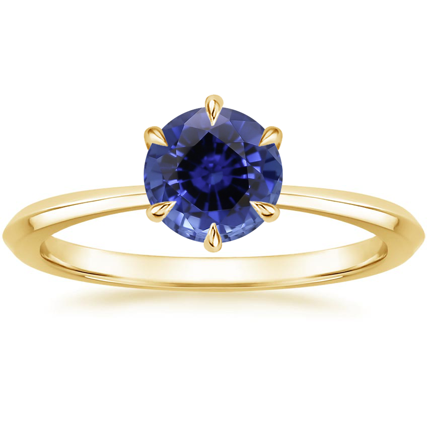 Yellow Gold Sapphire Channing Ring