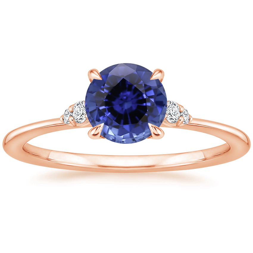 Rose Gold Sapphire Colette Diamond Ring