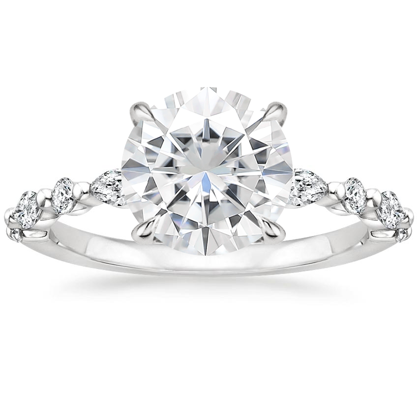 Moissanite Versailles Diamond Ring (1/3 ct. tw.) in 18K White Gold