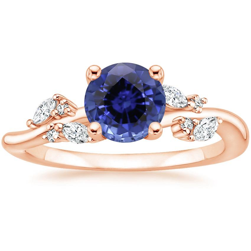 Rose Gold Sapphire Arden Diamond Ring