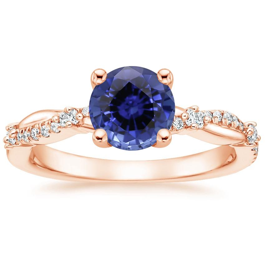 Rose Gold Sapphire Meadow Diamond Ring