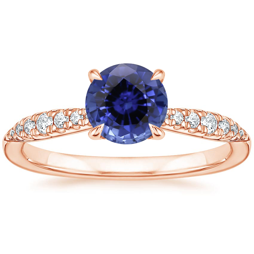 Rose Gold Sapphire Emmeline Diamond Ring