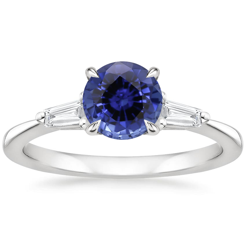 Sapphire Quinn Diamond Ring in 18K White Gold