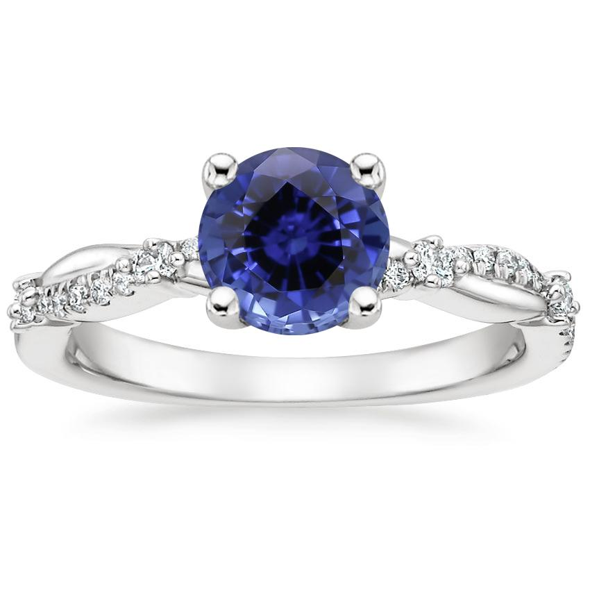 Sapphire Meadow Diamond Ring in 18K White Gold