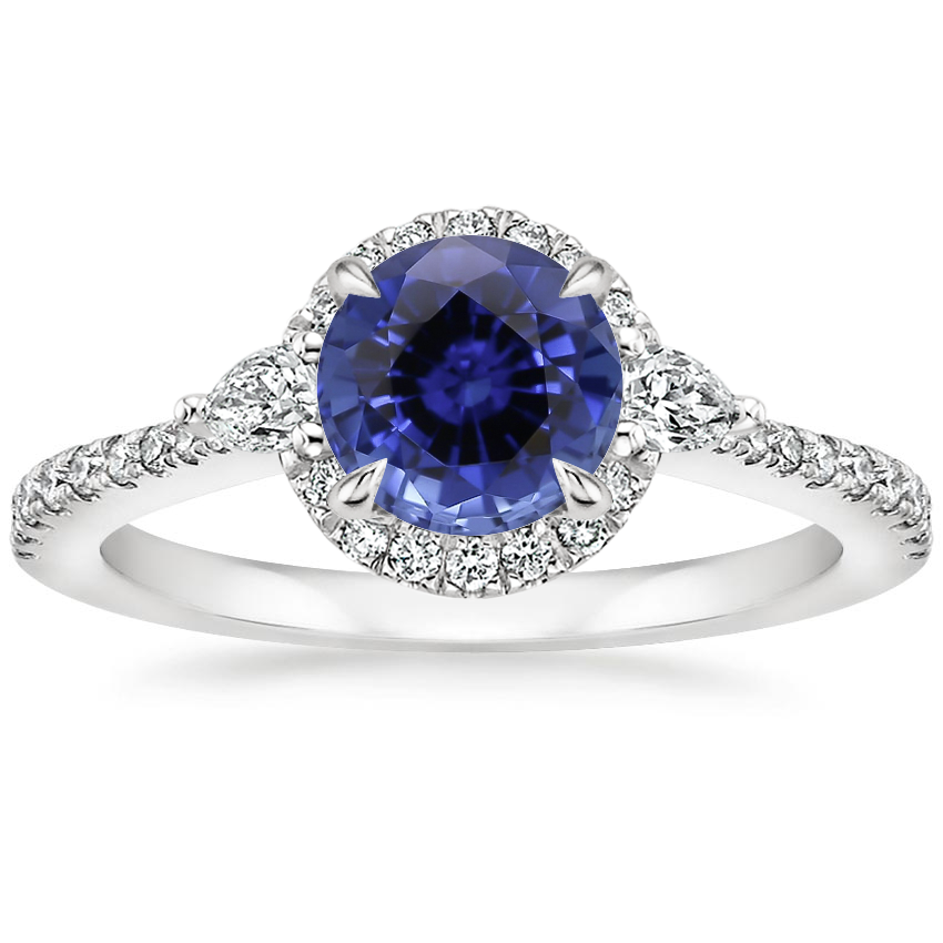 Sapphire Luxe Aria Halo Diamond Ring (1/4 ct. tw.) in 18K White Gold