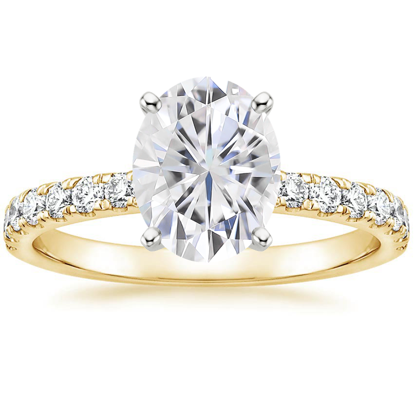 Moissanite Constance Diamond Ring (1/3 Ct. Tw.) In 18K