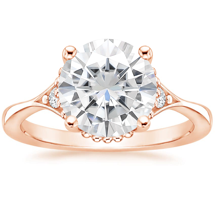 Rose Gold Moissanite Dolce Diamond Ring