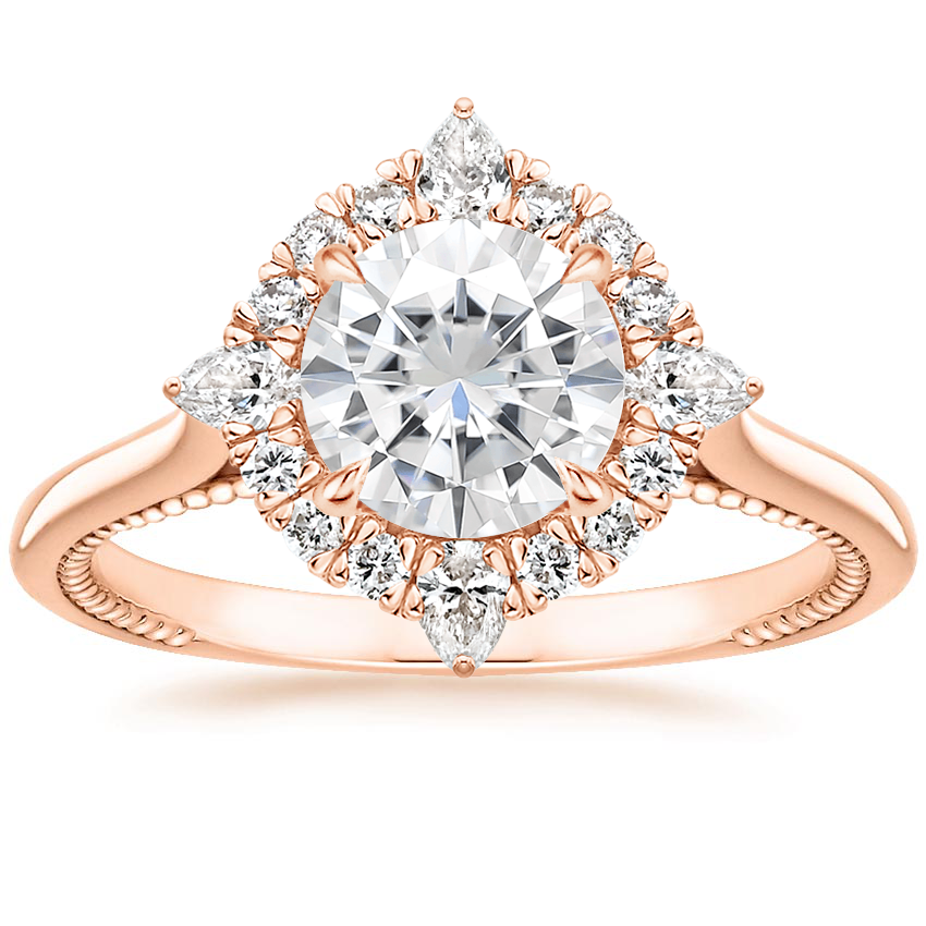 Rose Gold Moissanite Dahlia Diamond Ring (1/3 ct. tw.)
