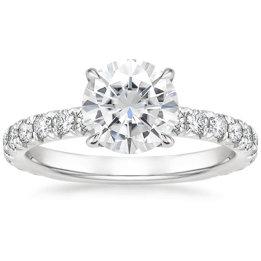Moissanite Olympia Diamond Ring in Platinum