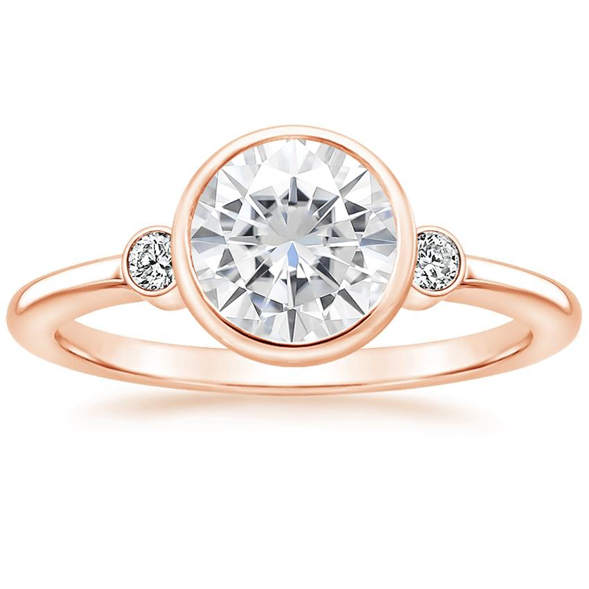 Rose Gold Moissanite Mila Diamond Ring